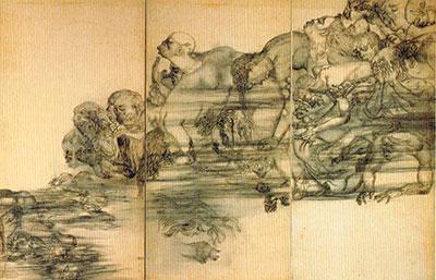 Detail of Hiroshima Panels (1950); by Iri and Toshi Maruki. Maruki Gallery For The Hiroshima Panels