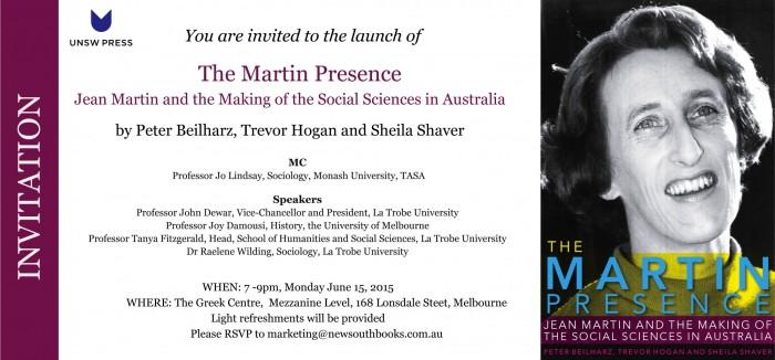 Melbourne Launch Invitation_The Martin Presence