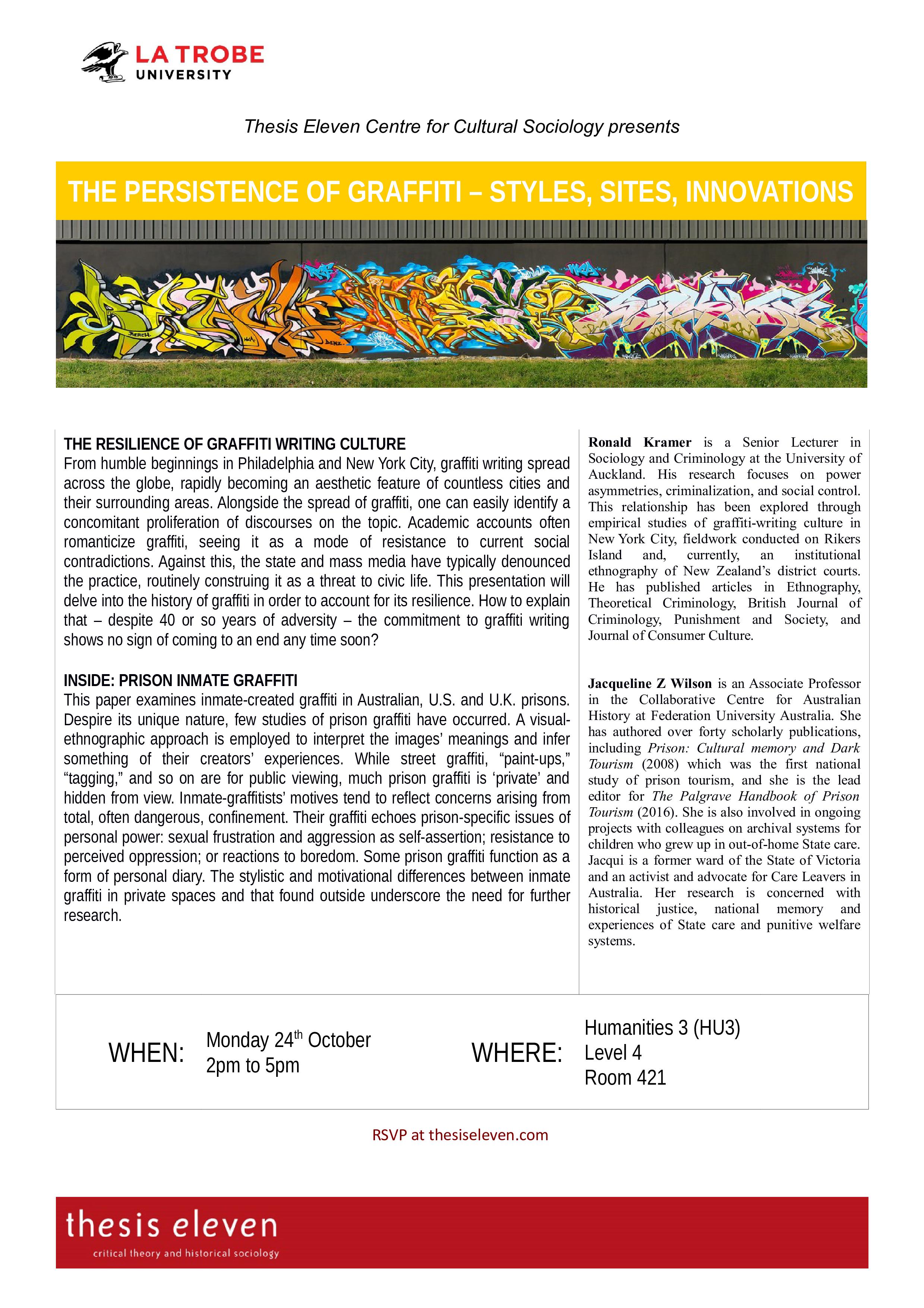 Seminar: the Persistence of Graffiti | thesis eleven