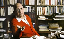 French philosopher and  economist Cornelius Castoriadis at home in Paris,FRANCE-28/09/1990/0908141650